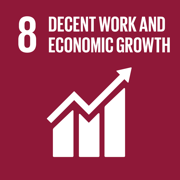Doing Well by Doing Good Decent Work and Economic Growth Icon