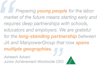 Junior Achievement CEO quote
